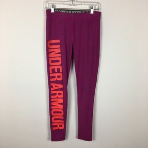 Under Armour Spellout Logo Leggings Purple, Red